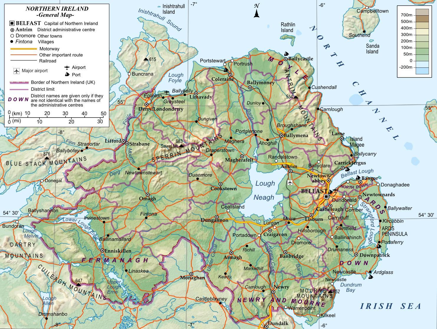 Mapa Irlanda Del Norte.Mapa De Irlanda Del Norte Un Mapa De Irlanda Del Norte El